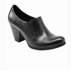 Born of Concept Francis Black Leather Ankle Bootie